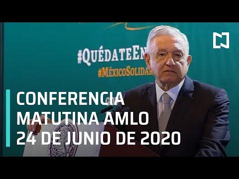 Conferencia matutina AMLO/ 24 de junio de 2020