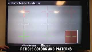 ATN X-Sight Tutorial - Reticle colors and patterns