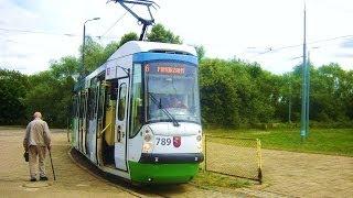 Szczecin widziany z okna tramwaju - linia nr 6