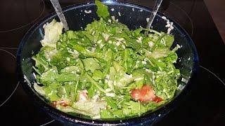 Наш любимый зеленый салатик !!! И заправка для салата