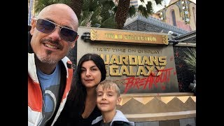 Guardians of the Galaxy ride- Mission: Breakout!  Disney California Adventure Park review