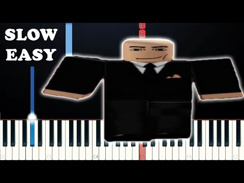 Wide Putin Walking (SLOW EASY PIANO TUTORIAL)