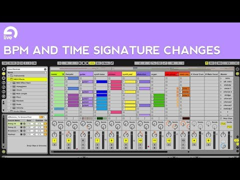 Ableton Live Tutorial: Session View BPM and Time Signature Changes