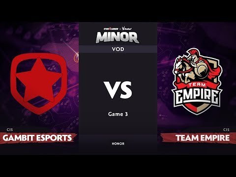 [RU] Gambit Esports vs Team Empire, Game 3, CIS Qualifier, StarLadder ImbaTV Dota 2 Minor