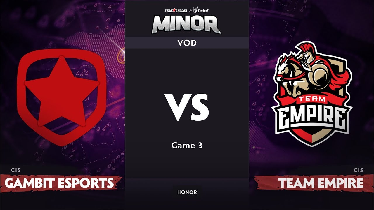 [RU] Gambit Esports vs Team Empire, Game 3, CIS Qualifier, StarLadder ImbaTV Dota 2 Minor