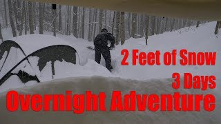 2 Feet of Snow, 3 Days in the Forest - Overnight Adventure