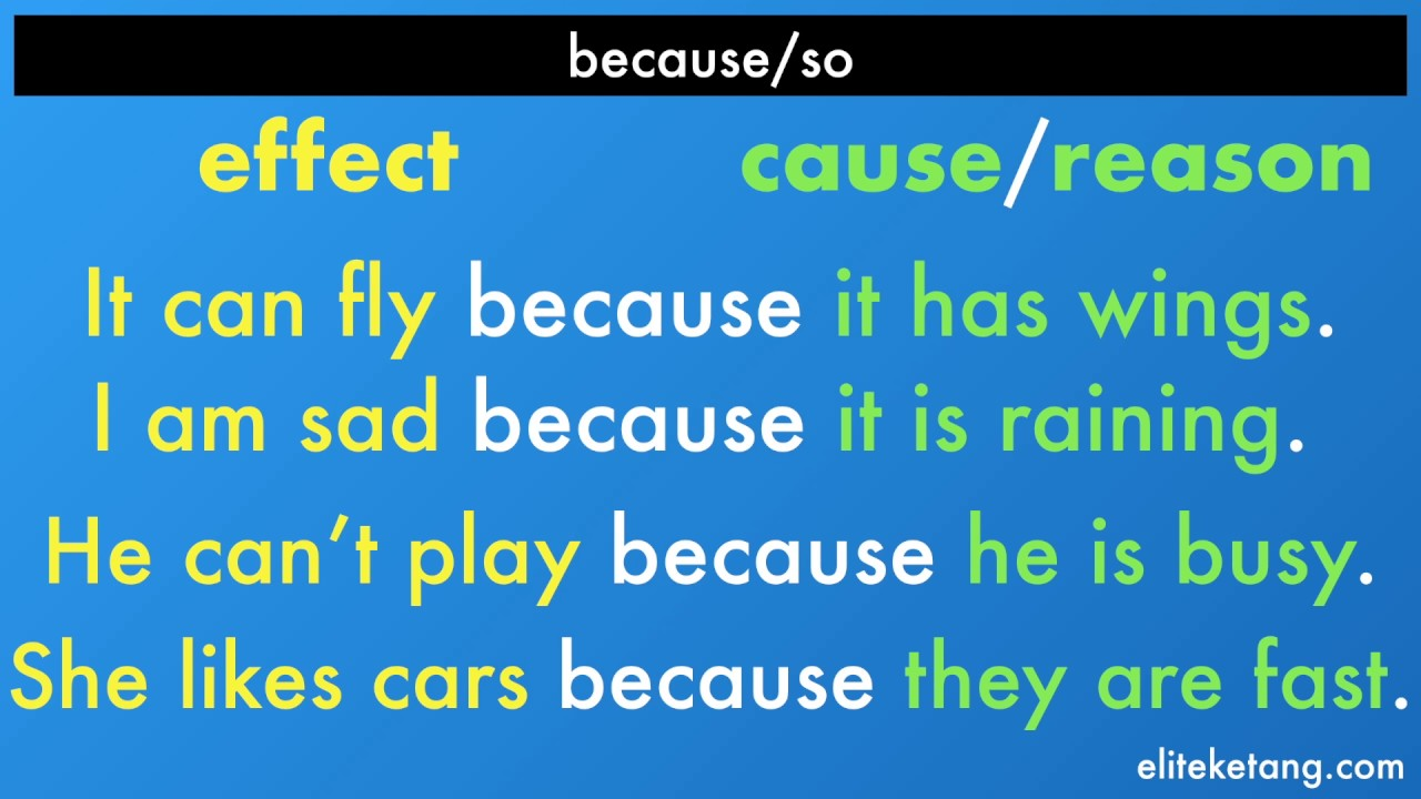 Becauseso Cause & Effect!  Youtube