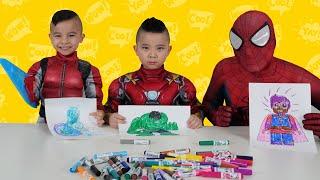 Superhero 5 Marker Challenge Fun With CKN