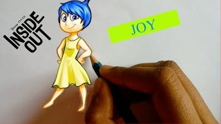 How To Draw JOY From Inside Out- Step By Step