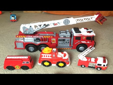 Thumbnail: Colors for Children to Learn with Toys Fire Trucks | Colours for Kids to Learn | Learning Videos
