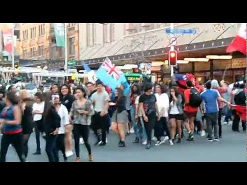 Tonga Flashmob RWC Opening Queenstreet