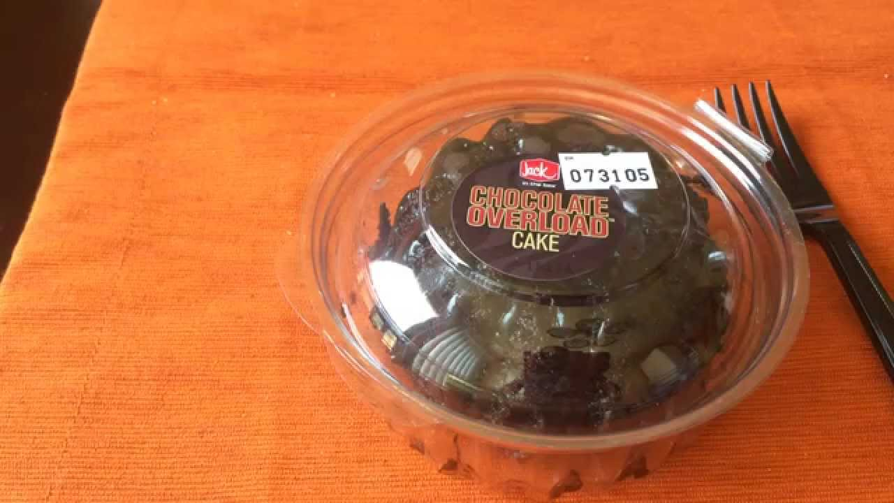 Jack In The Box CHOCOLATE OVERLOAD CAKE Review - YouTube