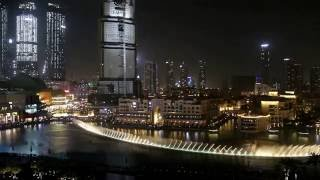 Dubai Fountain from suite balcony Armani Hotel Full HD MVI 6408