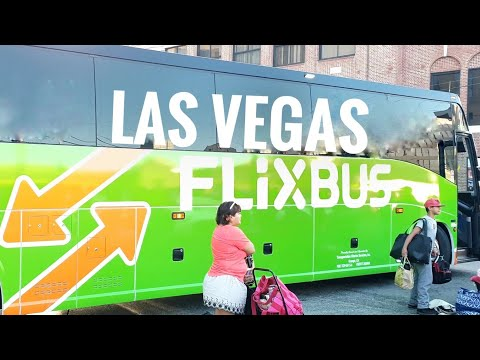 Flixbus USA Las Vegas to Los Angeles cheap - Bus station review Caesar's Palace