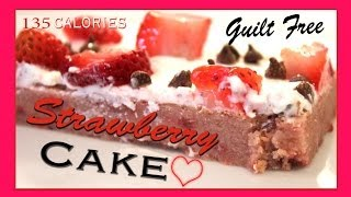 Strawberry Chocolate Chip Cake  ♡ Valentine's Day Recipe  ♡  Low Fat!