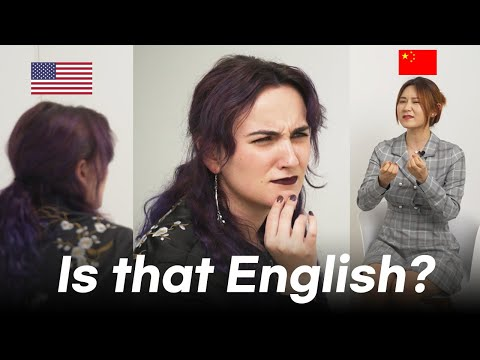 American react to chinese english
