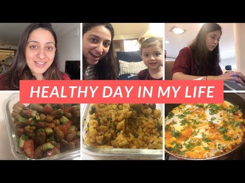 HEALTHY DAY IN MY LIFE | What I Eat In a Day | Working Mom Vlog | Shakshouka Recipe