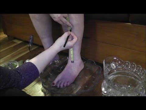 🌸 ASMR [Real Person] Leg Exam + Treatment - No Speaking ASMR