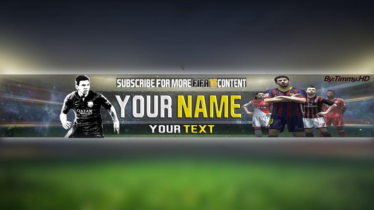 Photoshop Free Fifa Banner Template Speedart Youtube