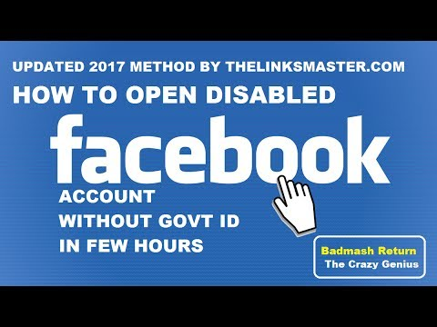 How To Open Disabled Fb Account Without Government Id Card Proof ! No IDs Proof No Proxy
