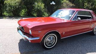 1966 red mustang coupe 3 speed for sale at www coyoteclassics com