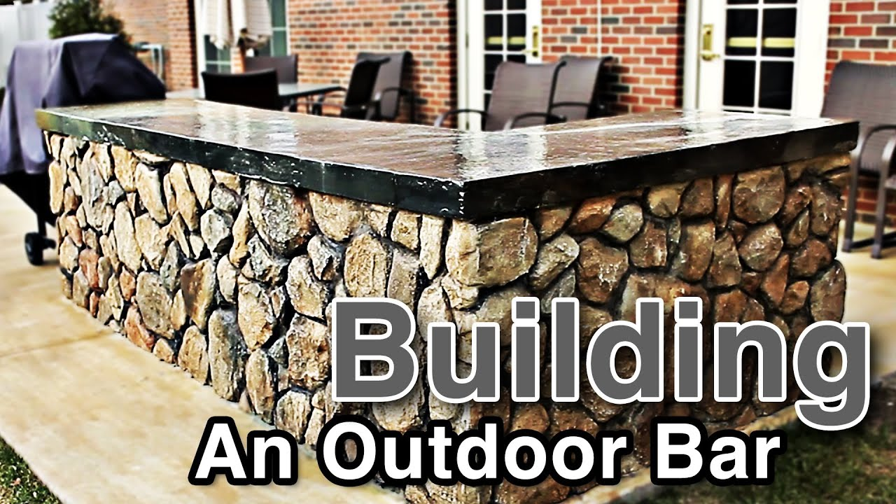 Stone Patio Bar. Building An Outdoor Bar Stone Patio