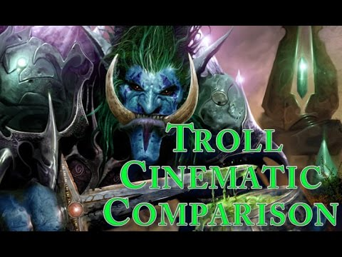 World Of Warcraft - Vanilla and Cataclysm Troll Starting Zone Cinematic Comparison