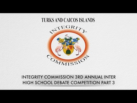 2017 Turks and Caicos Islands Integrity Commission Inter-High School Debate Day 2