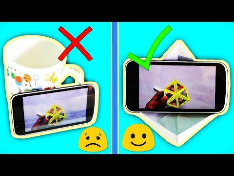 How To Make Paper Mobile Stand || Origami Paper Holder || DIY