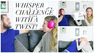 One of Sarah - This Mama Life's most viewed videos: HUSBAND'S PREGNANCY REACTION - WHISPER CHALLENGE WITH A TWIST!! | THIS MAMA LIFE