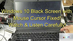 Windows 10 Fixed! Black Screen w/ Mouse Cursor: 2 Easy Options!!