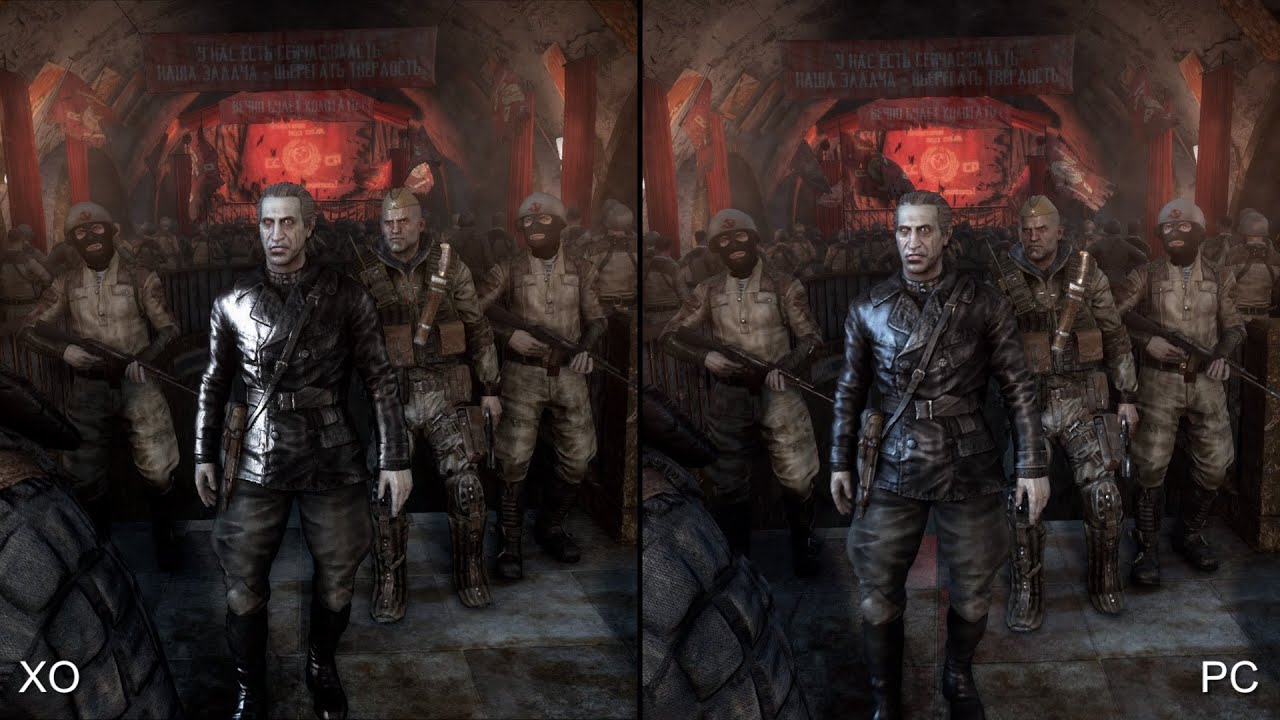 Metro Last Light Redux Xbox One Vs PC Comparison