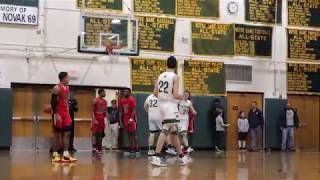 ND Basketball Highlights from Win Over Cross