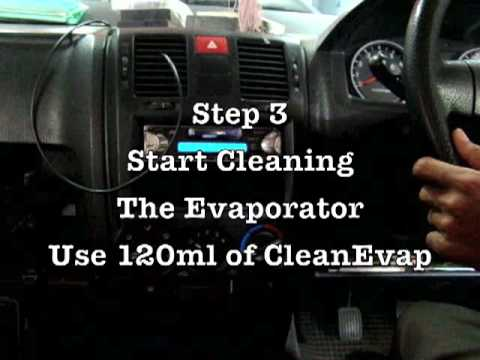 How to clean a car\u0027s evaporator/cooling coil  avoid the trouble of