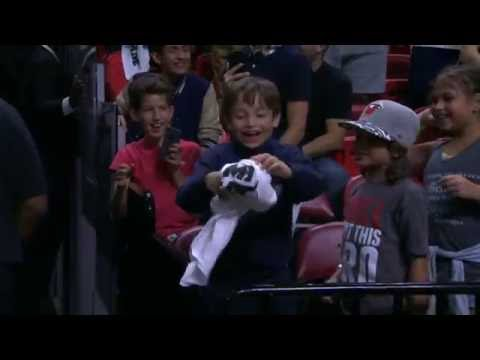 Hassan Whiteside Puts A Smile on A Young Fan's Face, Speaks on Jose Fernandez