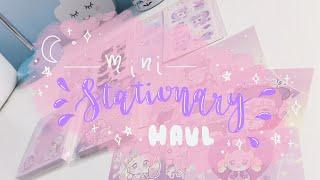 mini stationery haul 🌸✨ no talking/asmr sounds + music