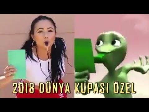 2018 Dünya Kupası Özel Yeşil Uzaylı Dansı