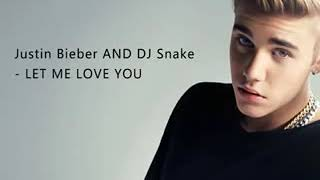 Let me love you song lyrics
