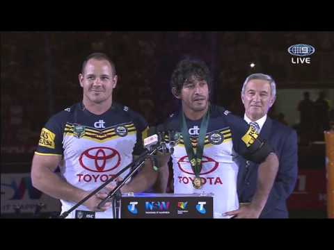 2015 NRL Premiership Winners - Speech by Captains - NQ Cowboys