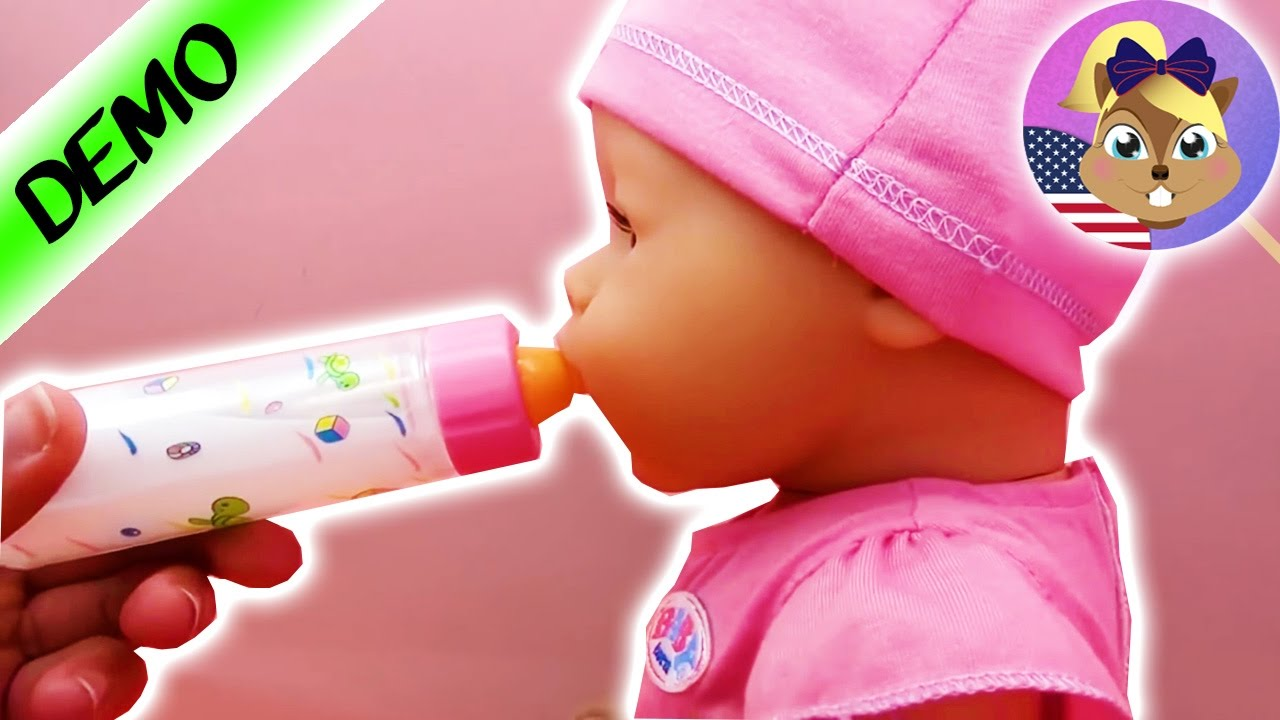Baby Born Doll Videos English Baby Born Interactive Magic Milk Bottle For Baby Doll Youtube