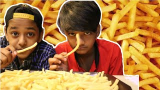 10000 subscribers Special French fries Challenge | SRK and OM | VLOG 5