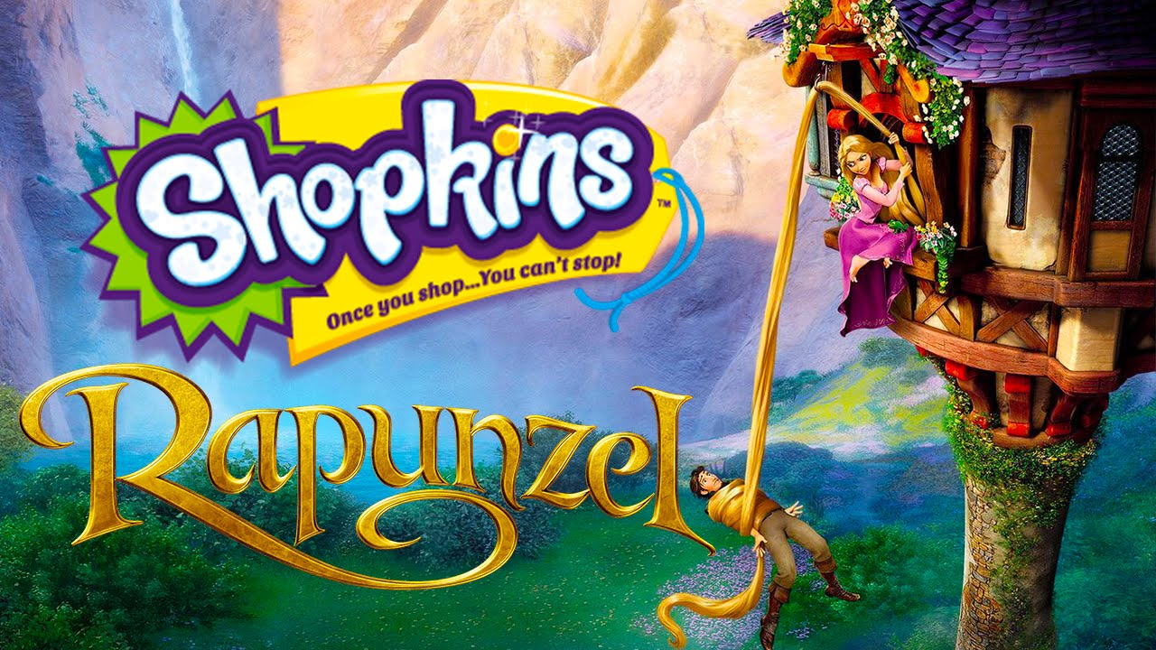 RAPUNZEL Shopkins Fairy Tales Story - YouTube
