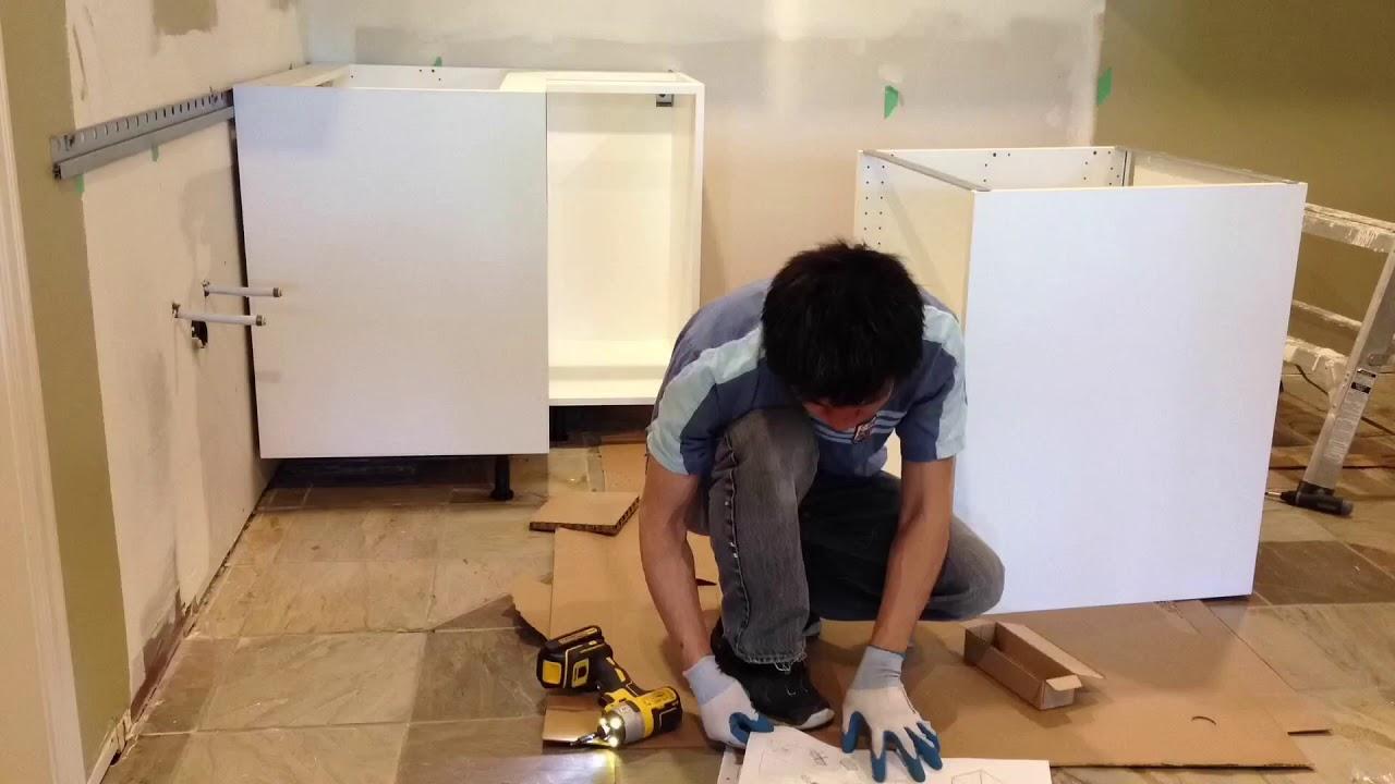 IKEA Kitchen Cabinets Installation - YouTube