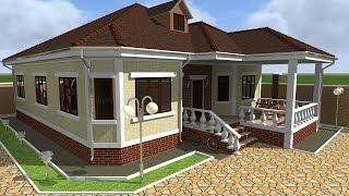 Домик для Инглаба 1490х1250 270,88 кв.м Примеры работы программы Архикад