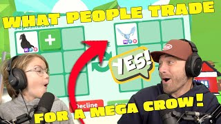 What People Trade For A MEGA CROW!! Roblox Adopt Me!