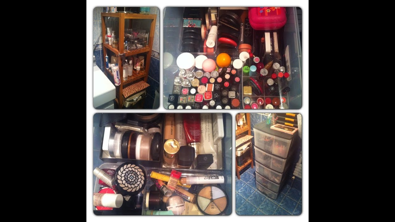 Ma collection de maquillage rangement youtube - Rangement maquillage commode ...