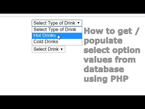 How To Get / Populate Select Option Values From Database Using PHP