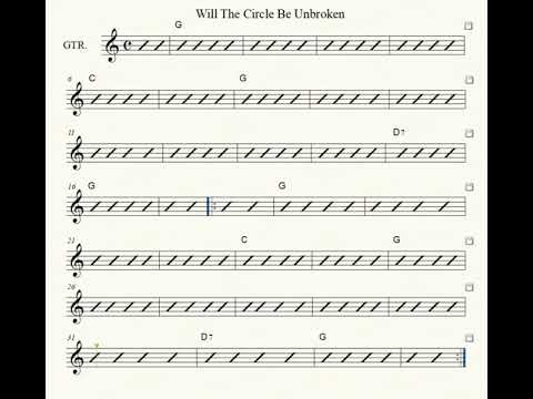 8.8 MB) Will The Circle Be Unbroken Sheet Music - Free Download MP3
