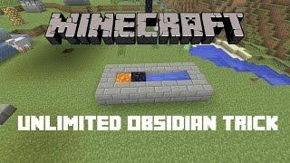 Unlimited Obsidian Trick - Minecraft: PS4 & Xbox One Edition (Obsidian Generator Glitch)