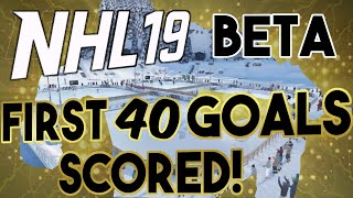 NHL 19 Beta: FIRST 40 GOALS SCORED! How to Score Goals in the Beta.